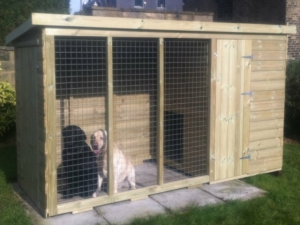 Timber Pent & Run Dog Kennels and Runs